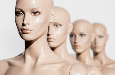 Mannequins, Store, Naked, Bald, Face