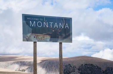 Montana, State, Sign, Welcome Sign, Welcome To Montana, Mountain