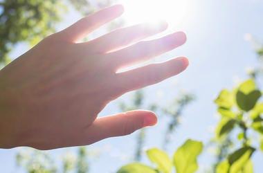 Hand Blocking Sun