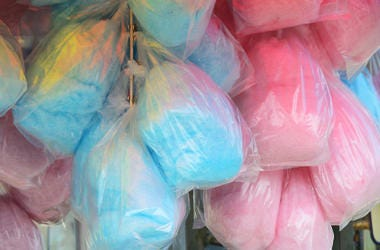 Cotton Candy, Plastic Bags, Pink, Blue