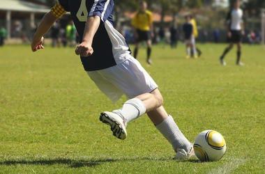 Male, Soccer, Ball, Kick