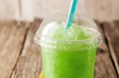 Green, Slush, Drink