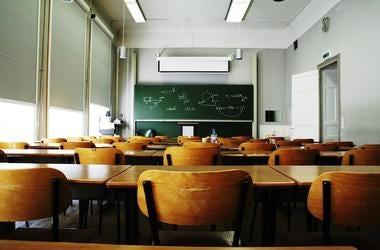 Empty, Classroom, Desks, Chalkboard