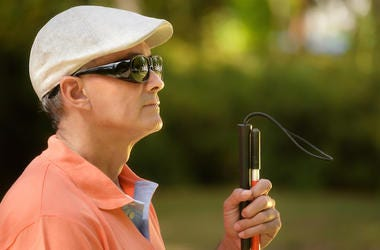 Blind Man, Sunglasses, Walking Stick
