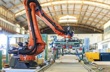 Industrial Robot, Factory, Warehouse, Pallet