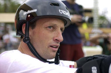 Tony Hawk, Skateboarding, Helmet, Close Up, Face, 2002