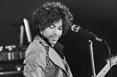 Prince, Concert, Guitar, Black and White, 1981