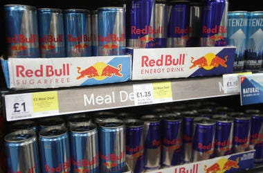 Red Bull, Cans, Shelves, Grocery Store, 2018