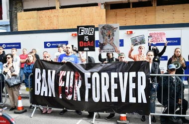 PETA, Protest, Ban Fur Forever, London, 2018