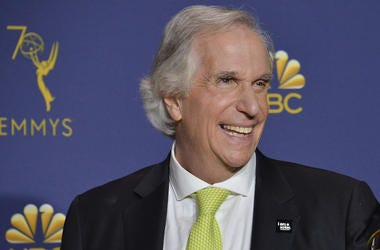 Henry Winkler, Press Room, 70th Primetime Emmys. Smile, 2018