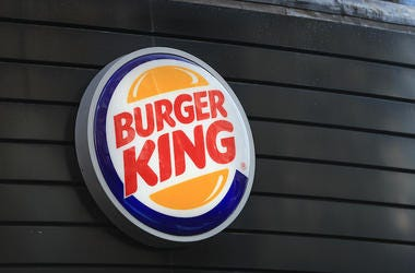 Burger King, Sign, Wall, Logo, Restaurant, Exterior, London