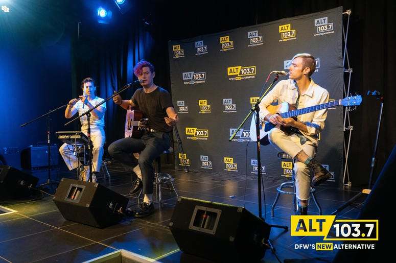 DREAMERS at Verizon Artist Lounge At ALT 103.7 Studios