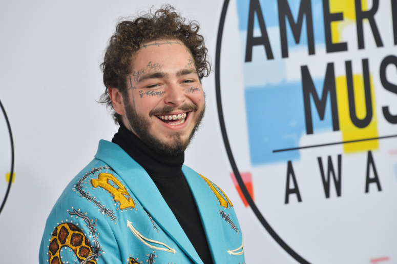 Post Malone arrives at the American Music Awards