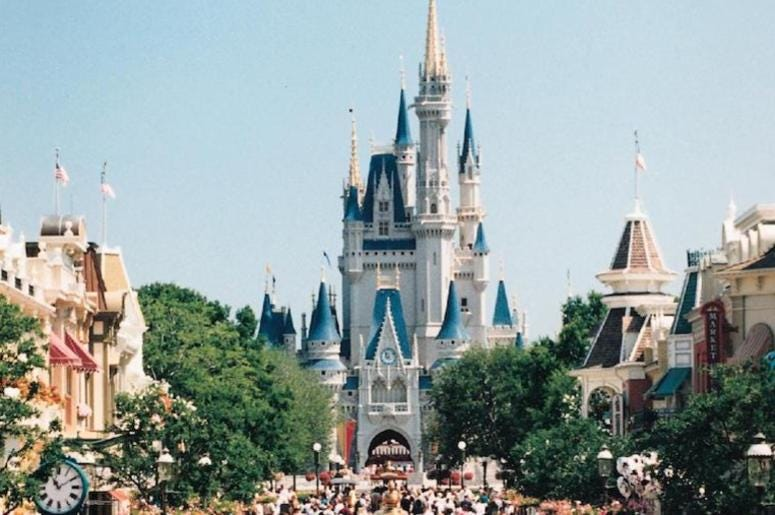 Disney World, Magic Kingdom, Orlando, Crowd, 1997