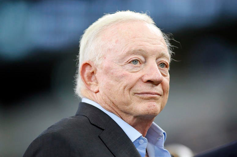 Jerry Jones, Dallas Cowboys, Field, Pregame, AT&T Stadium, Tampa Bay Buccaneers, 2019