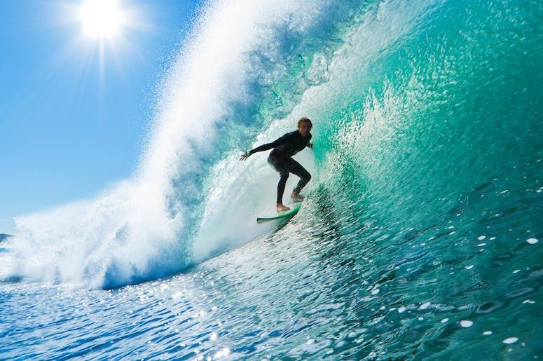 Male, Surfer, Wave, Surfing