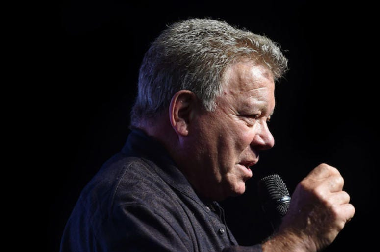 William Shatner, Talking, Microphone
