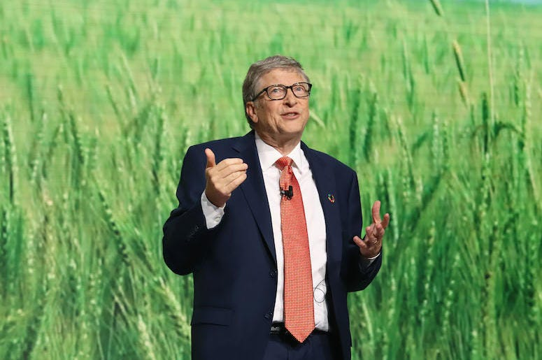 Bill Gates, Speaking, Goalkeepers Event, Grass Background, 2018