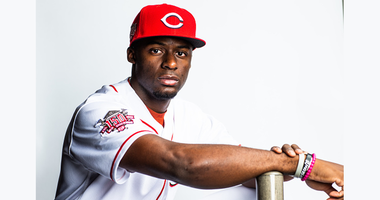 FEBRUARY 19: Taylor Trammell #78 of the Cincinnati Reds poses for a portrait at the Cincinnati Reds Player Development Complex on February 19, 2019 in Goodyear, Arizona. (Photo by Rob Tringali/Getty Images)