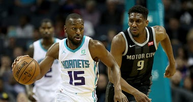 Kemba Walker in a game with the Charlotte Hornets.