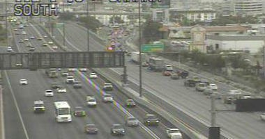 Traffic exiting I-15 at Sahara because of a fatal crash on 12-2