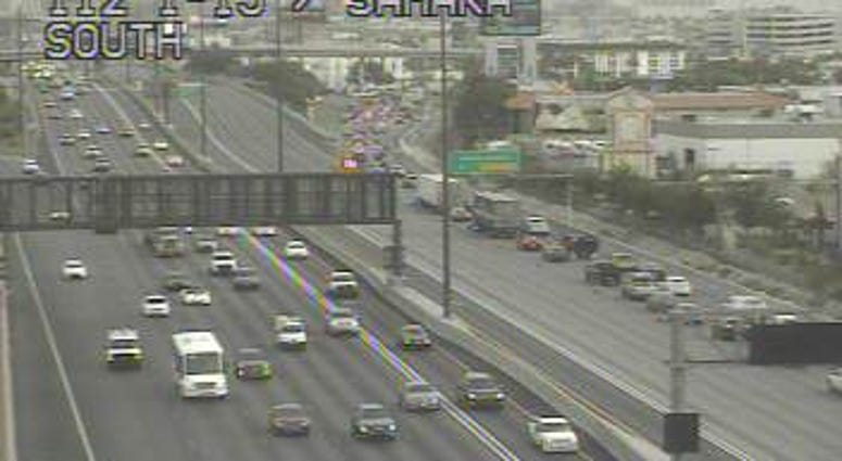 Traffic exiting I-15 at Sahara because of a fatal crash on 12-2