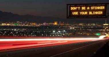 Overhead Freeway Sign In Nevada