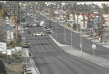 Accident scene at Sunset/GV Parkway on 3-3-20