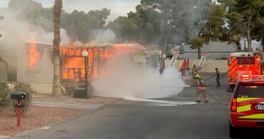 scene of a mobile home fire near Lamb and Washington on 11-23-29