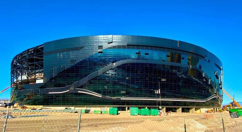 Exterior shot of Allegiant Stadium