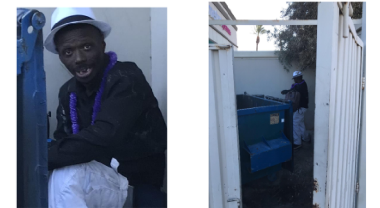 Snaphot of a North Las Vegas dumpster fire suspect from 7-22-20