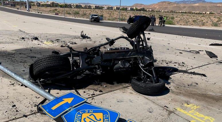 Scene of fatal motorcycle crash on 5-25-20