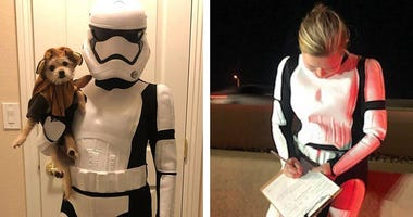 Nevada Highway Patrol Trooper Britta Froesh in stormtrooper costume