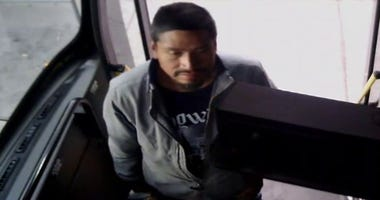 Snapshot of man who punched CAT bus driver 4-12-20