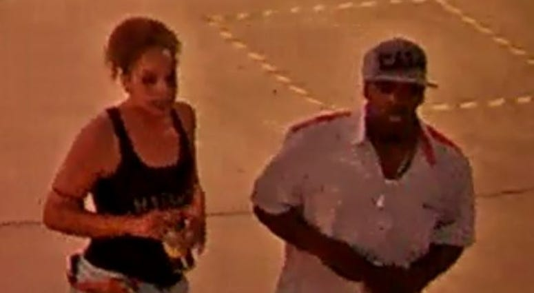 Screenshot of suspects wanted in a stabbing on 7-26-20
