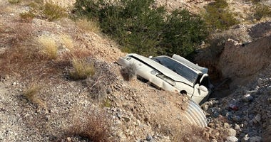 Scene a fatal single car crash near Moapa on 9-20-20