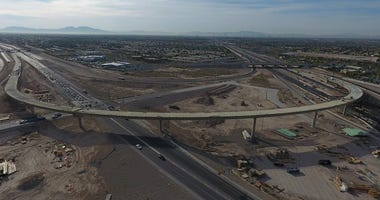 Overhead view of the Centennial Bowl interchange