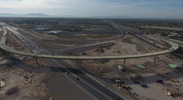 Overhead view of the Centennial Bowl interchange