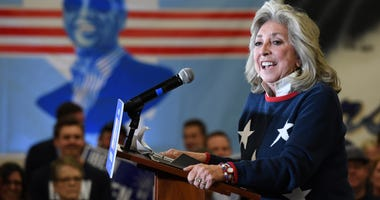 Nevada Congresswoman Dina Titus speaks at a rally for Joe Biden in 2020