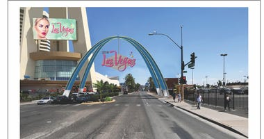 Artist rendering of the Arch welcoming people to Downtown Las Vegas
