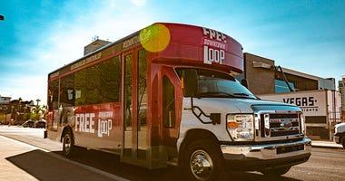 """Photo of Las Vegas' """"Downtown Loop"""" shuttle bus"""