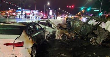 Shot of fatal crash on Durango and Desert Inn on 12-26019