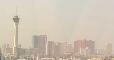 Las Vegas with an Air Quality Advisory