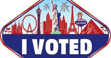 "Picture of Nevada's ""I Voted"" sticker"