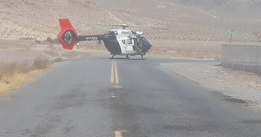 Helicopter used in search of missing hikers on 12-7-20