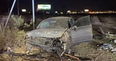 Scene of fatal crash on I-15 near Sloan on 11-17-20