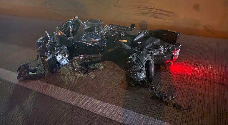 Scene of a fatal motorcycle crash on 12-1-20