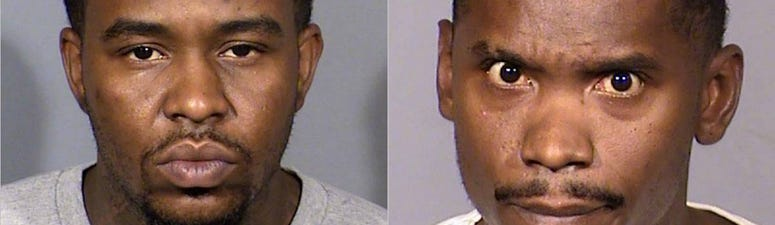 Mug shots of Jimmie Newson and Thirlon Newman from 9-29-20