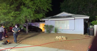 House fire near Rancho and Oakey on 5-1-20