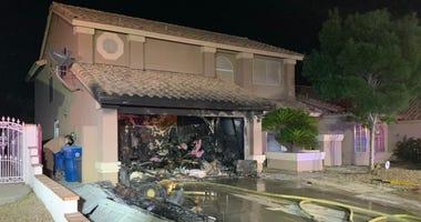 Scene of garage fire on 5-8-20